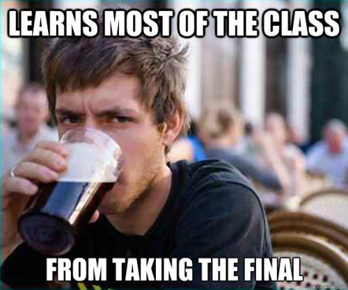 수업 내용은 기말 시험 때 배운다