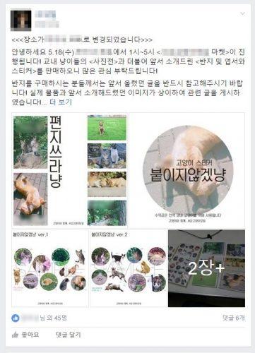 모 고양이보호단체 페이스북