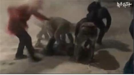 민중총궐기 故백남기 옆 빨간 점퍼